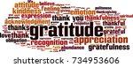gratitude word cloud concept.... | Shutterstock .eps vector #734953606