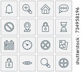web icons set. collection of... | Shutterstock .eps vector #734958196