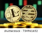 physical version of litecoin ... | Shutterstock . vector #734961652