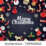 ector illustration. merry...   Shutterstock .eps vector #734963602