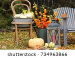Autumn Scene With Candlestick ...