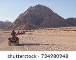 beautiful south sinai desert... | Shutterstock . vector #734980948