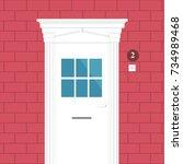 door illustration. if you need... | Shutterstock .eps vector #734989468