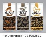 nuts packaging set 2 | Shutterstock .eps vector #735003532