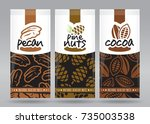 nuts packaging set 3 | Shutterstock .eps vector #735003538