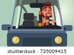 happy smiling man character... | Shutterstock .eps vector #735009415
