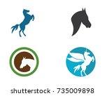 Stock vector horse logo template vector 735009898