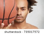 close up portrait of successful ... | Shutterstock . vector #735017572