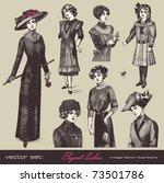 vector set  elegant vintage... | Shutterstock .eps vector #73501786