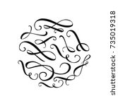 calligraphy swashes and... | Shutterstock .eps vector #735019318