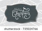 merry christmas with... | Shutterstock .eps vector #735024766