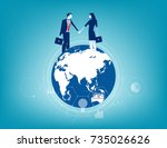 global business. business... | Shutterstock .eps vector #735026626