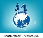 global business. business... | Shutterstock .eps vector #735026656