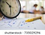 optical form of standardized...   Shutterstock . vector #735029296