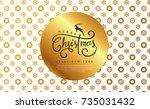 merry christmas with... | Shutterstock .eps vector #735031432