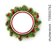 new year round background with...   Shutterstock .eps vector #735031762