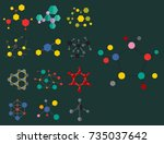 colorful molecular structures