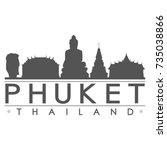 phuket thailand skyline... | Shutterstock .eps vector #735038866