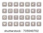 set of buttons for games ... | Shutterstock .eps vector #735040702