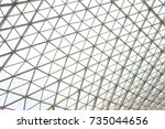 steel structure geometry... | Shutterstock . vector #735044656
