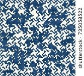 abstract distorted mottled... | Shutterstock .eps vector #735058522