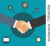 handshake of business partners. ... | Shutterstock .eps vector #735061306