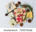close up christmas ornament... | Shutterstock . vector #735070186