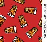 seamless doodle pattern. mote... | Shutterstock .eps vector #735072088