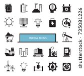 energy icons | Shutterstock .eps vector #735081226