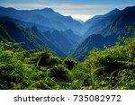 summer morning scenery of...   Shutterstock . vector #735082972