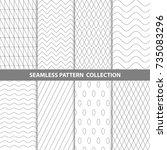 vector abstract geometric... | Shutterstock .eps vector #735083296