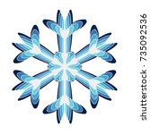 a symbolic snowflake. element... | Shutterstock .eps vector #735092536