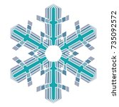 a symbolic snowflake. element... | Shutterstock .eps vector #735092572