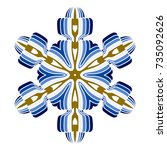 a symbolic snowflake. element... | Shutterstock .eps vector #735092626