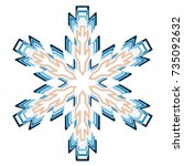 a symbolic snowflake. element... | Shutterstock .eps vector #735092632