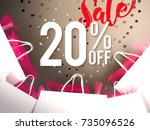 20  off discount promotion sale ... | Shutterstock . vector #735096526