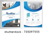template vector design for... | Shutterstock .eps vector #735097555