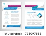 template vector design for... | Shutterstock .eps vector #735097558