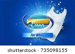packaging design template for... | Shutterstock .eps vector #735098155