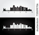 tucson usa skyline and... | Shutterstock .eps vector #735099706