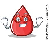 super hero blood drop cartoon... | Shutterstock .eps vector #735099916