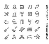 building construction elements... | Shutterstock .eps vector #735102205