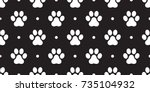 cat paw dog paw vector foot... | Shutterstock .eps vector #735104932