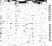 grunge black white. image for... | Shutterstock . vector #735115096