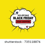 black friday. sale banner.... | Shutterstock .eps vector #735118876