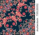 quarter of the ethnic russian... | Shutterstock .eps vector #735120352