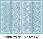 decorative geometric line... | Shutterstock .eps vector #735125152