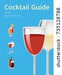 cocktail guide advertising... | Shutterstock .eps vector #735128788