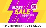 best sale banner. original... | Shutterstock .eps vector #735132202