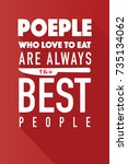 people who love to eat ... | Shutterstock .eps vector #735134062